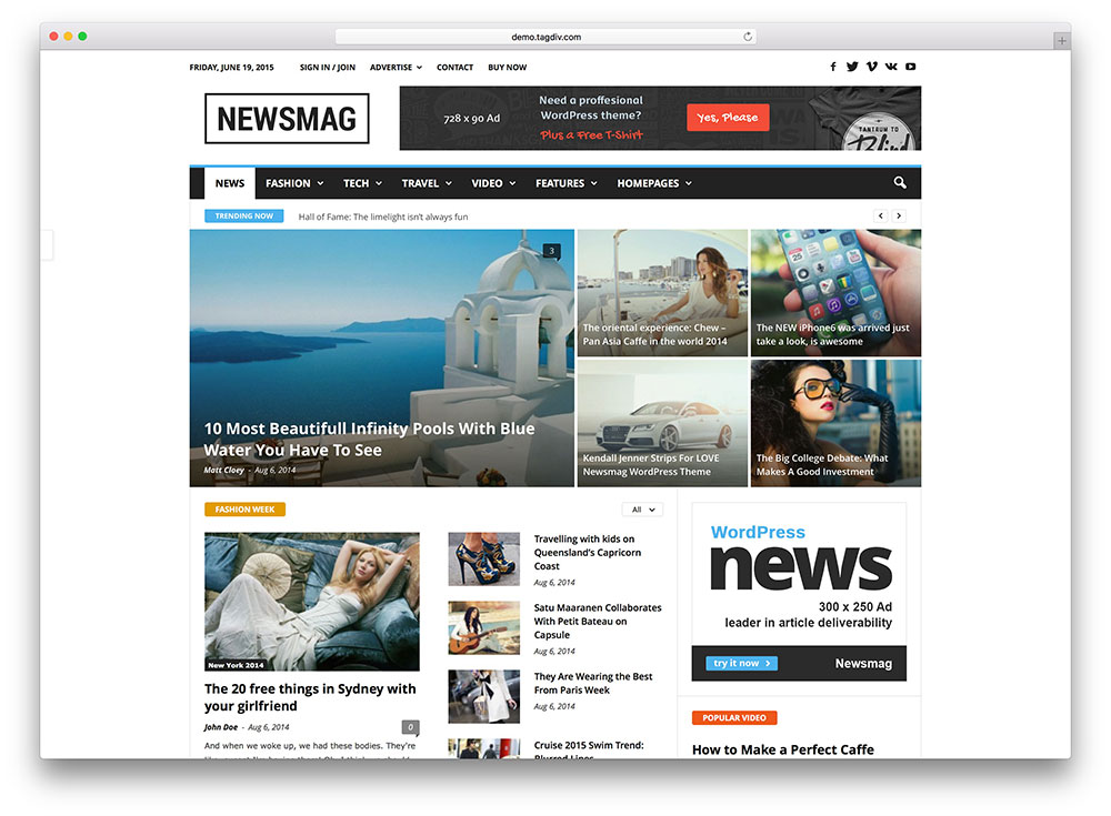 newsmag multipurpose news theme