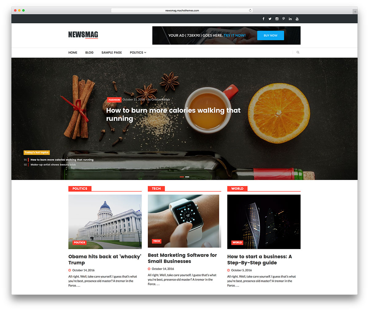 Best Free Responsive Magazine WordPress Themes Colorlib - Online magazine template