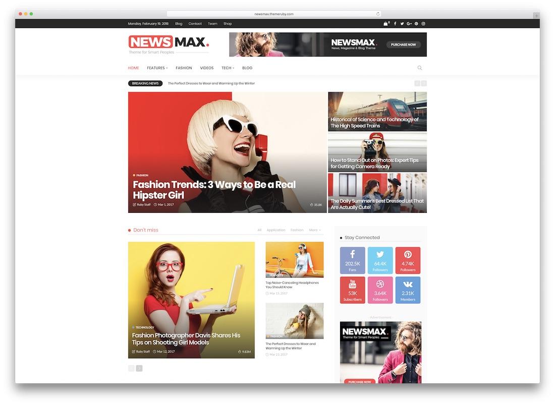 newsmax amp theme