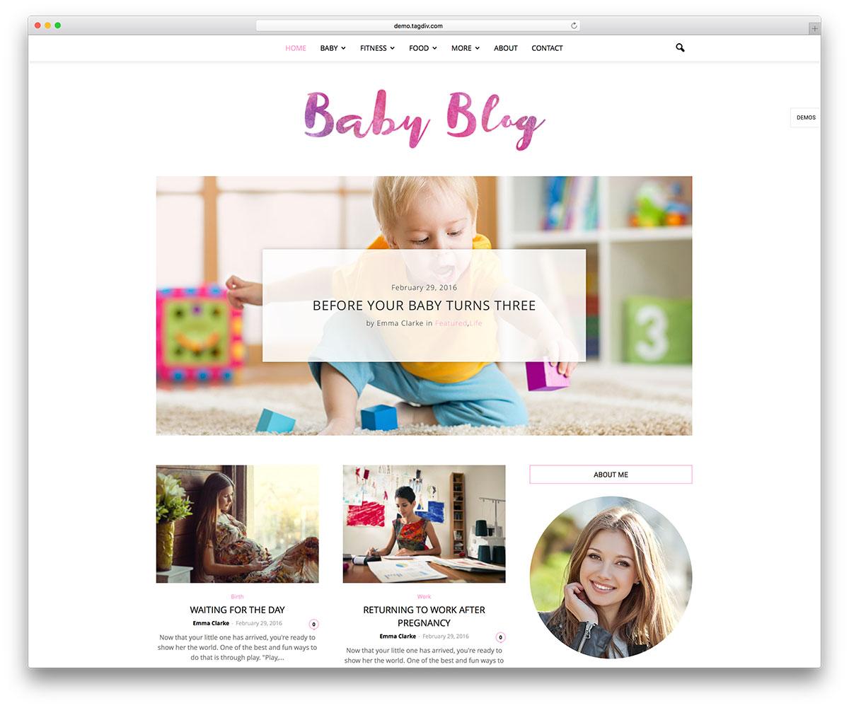 newspaper-baby-blog-wp-website-template