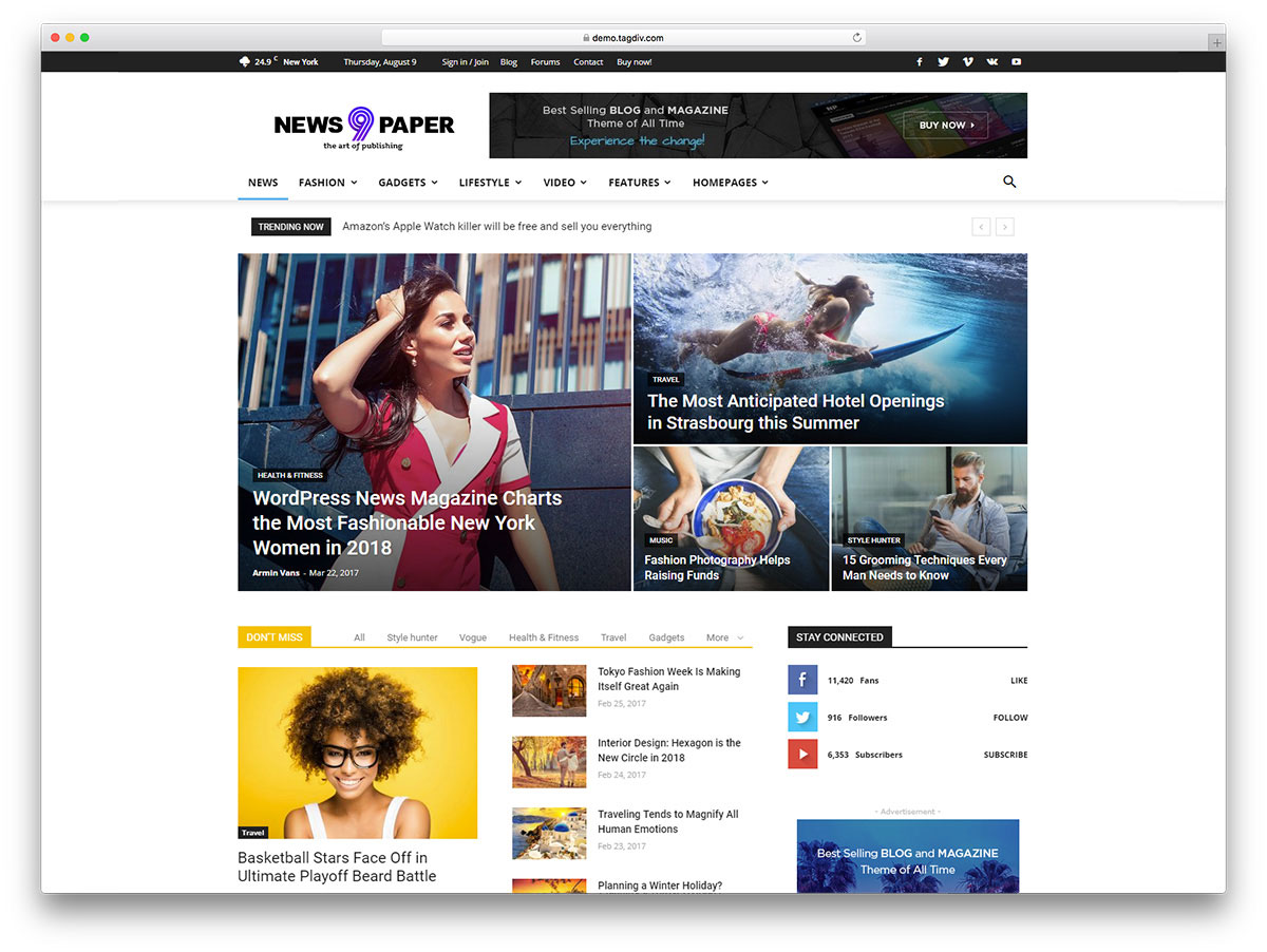 Top 50+ News Magazine WordPress Themes 2019