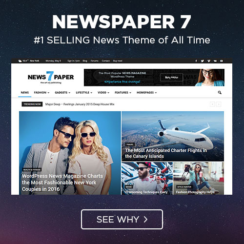 Newspaper 7 theme on colorlib