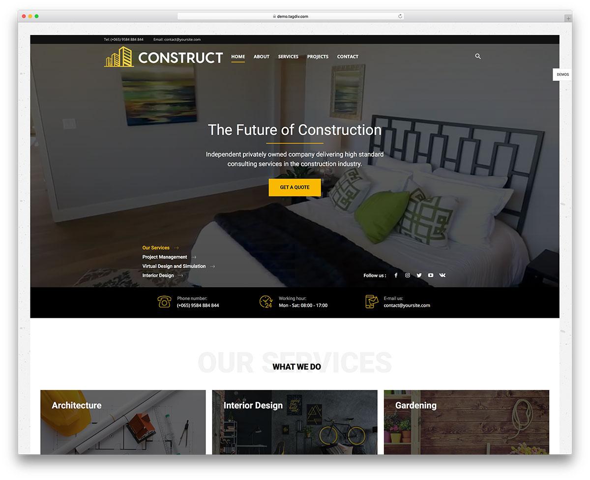 49 Best Construction Company WordPress Themes 2019 - colorlib