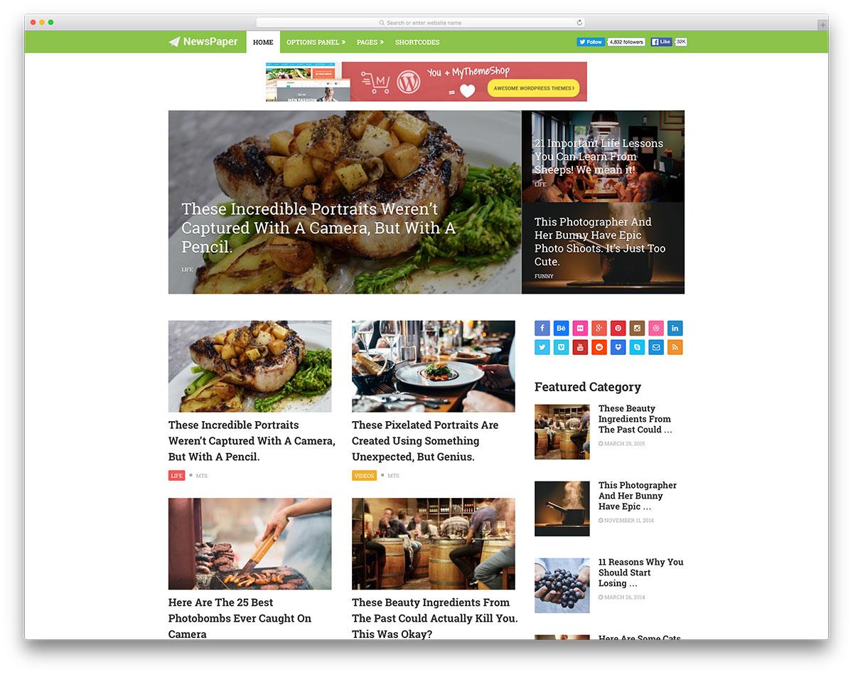 newspaper-food-magazine-theme
