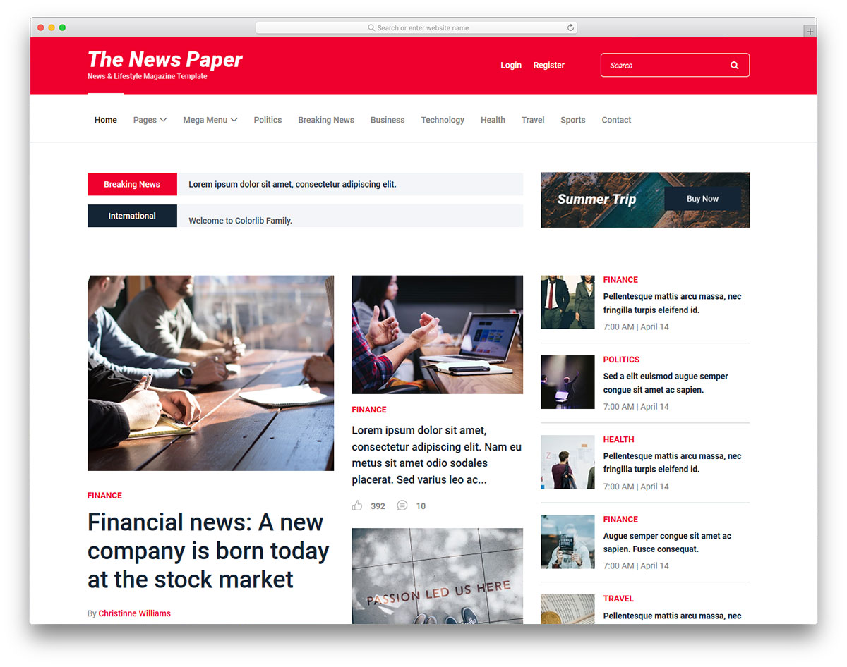 28 Best Free News Website Templates 2019 Colorlib