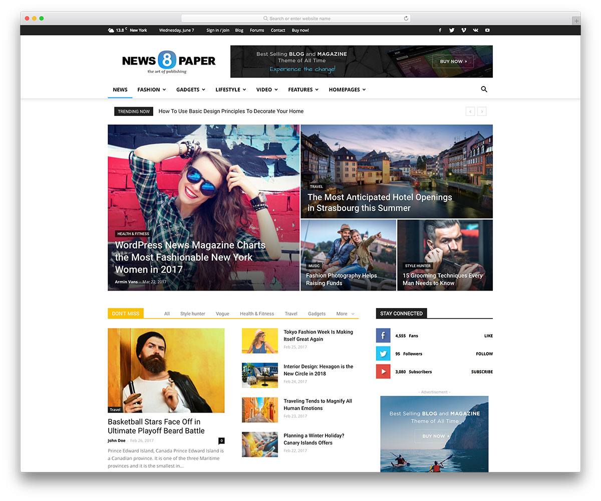 Top 40 News Magazine WordPress Themes 2017 - colorlib