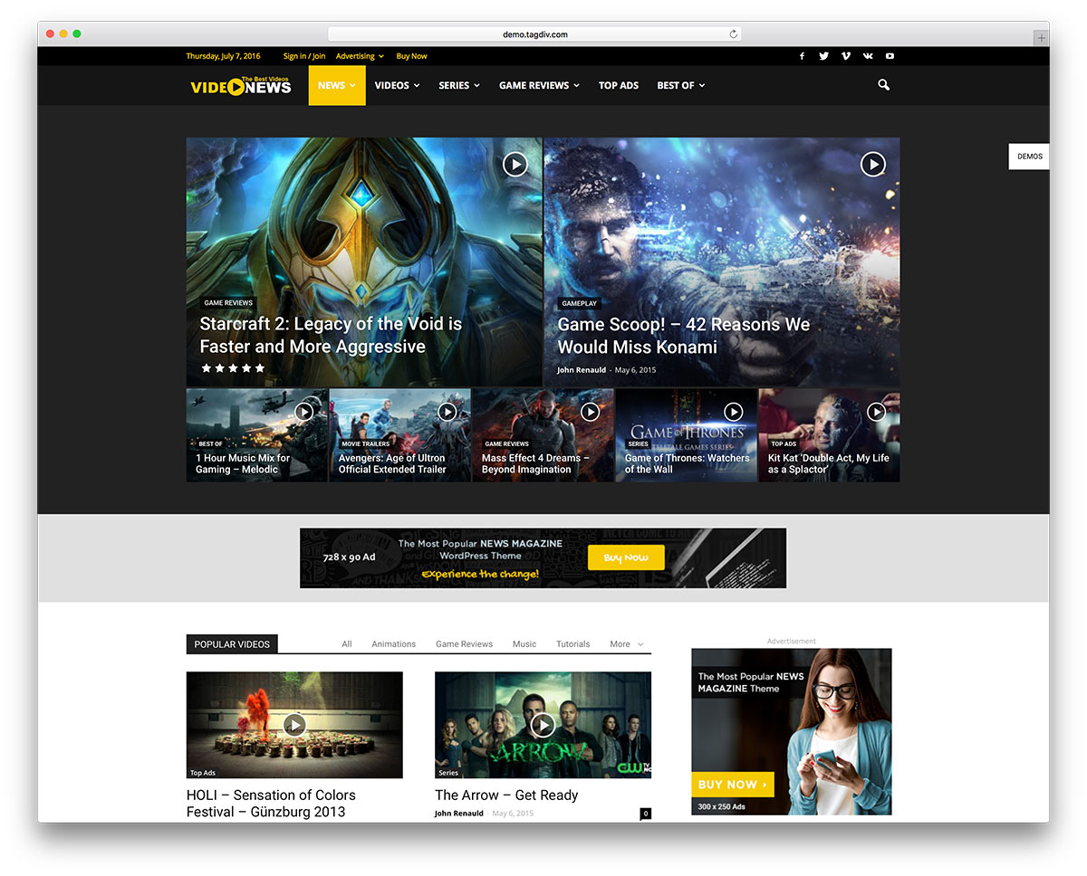 20 Best WordPress Gaming Magazine Themes 2018 - Colorlib