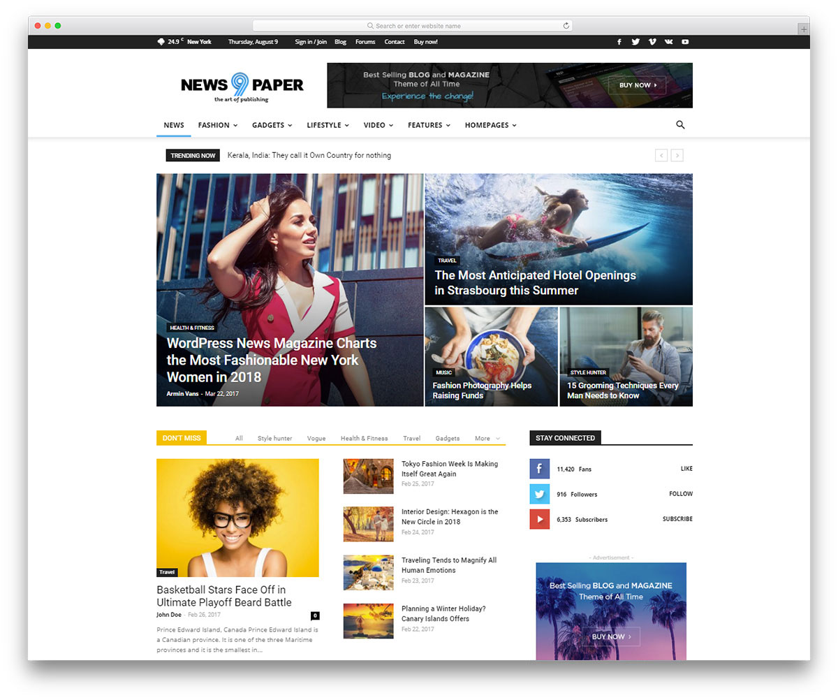 Best Info And News Site: 28 Best Google Adsense Optimized WordPress Themes 2019