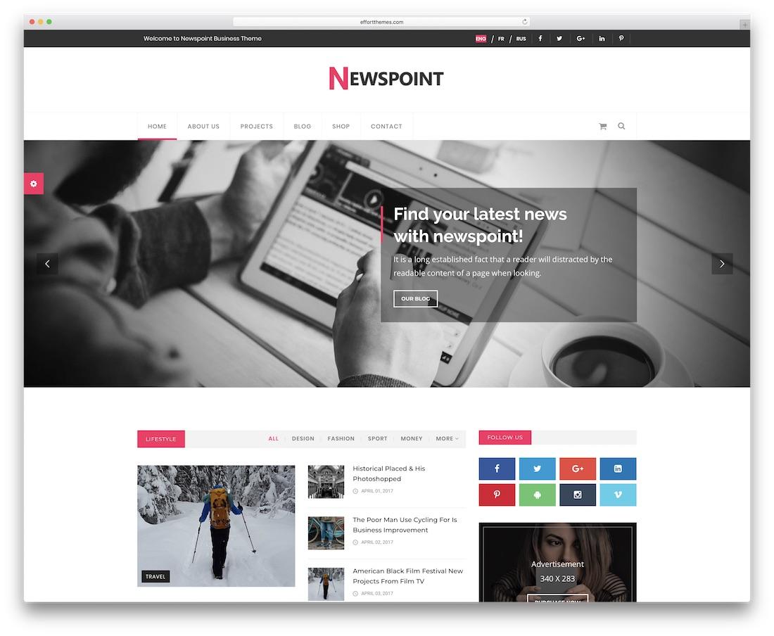 newspoint news website template