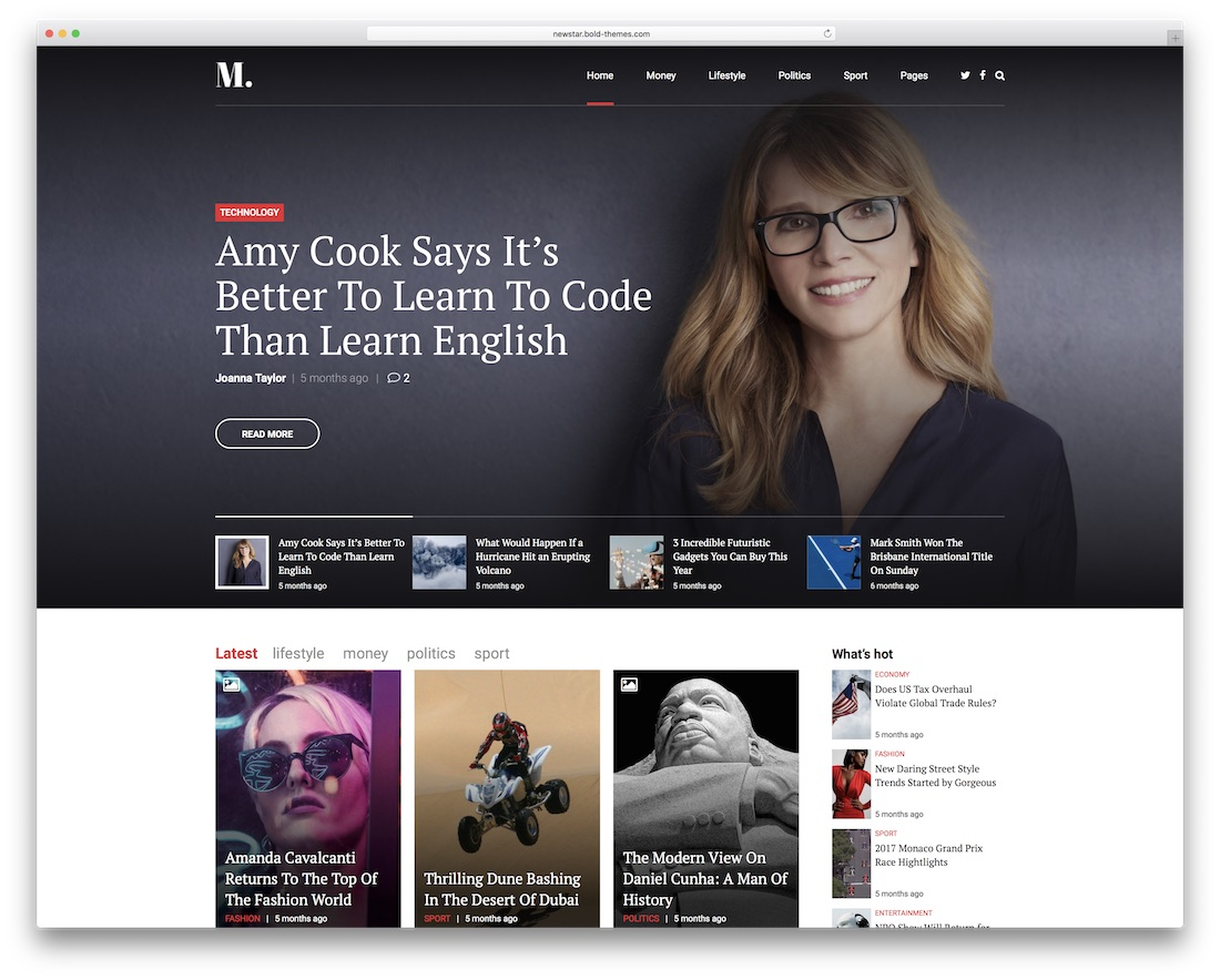 newstar magazine wordpress theme