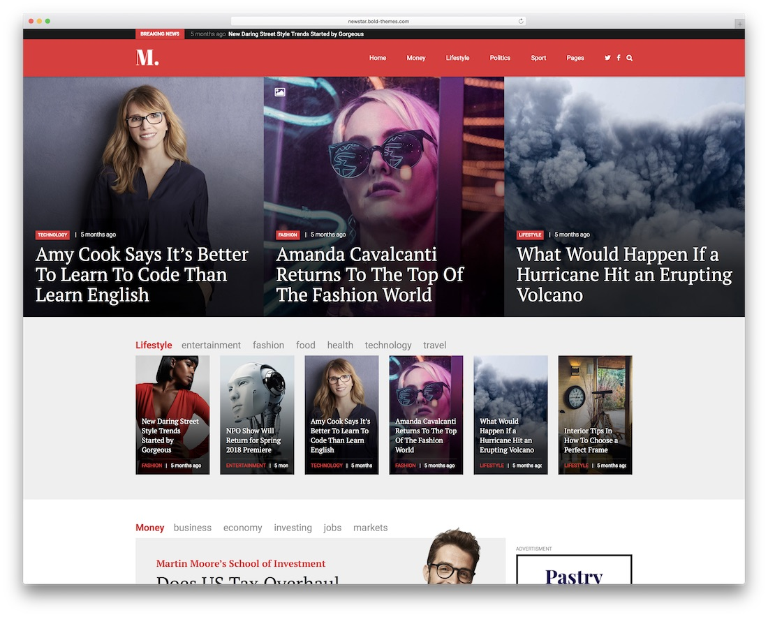 newstar wordpress newspaper theme