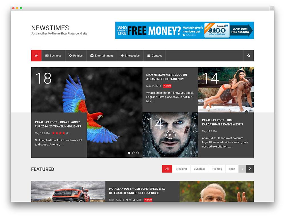 newstimes bold magazine theme