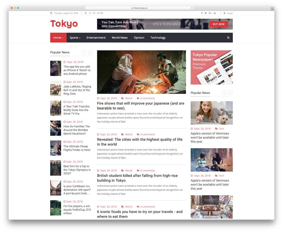 newstoday news website template