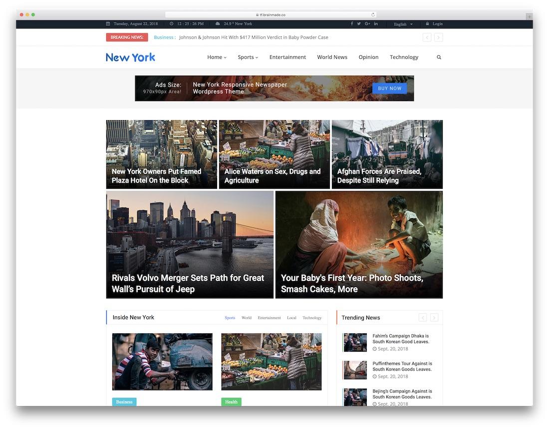 newstoday writer website template