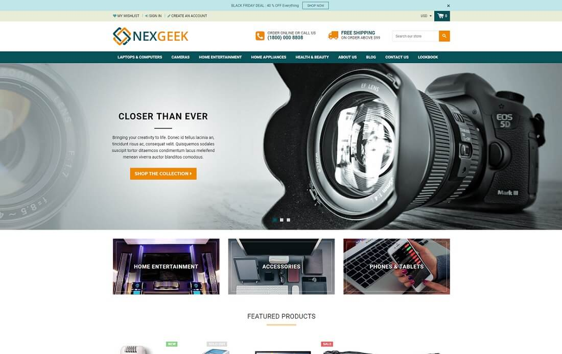 nexgeek shopify technology theme