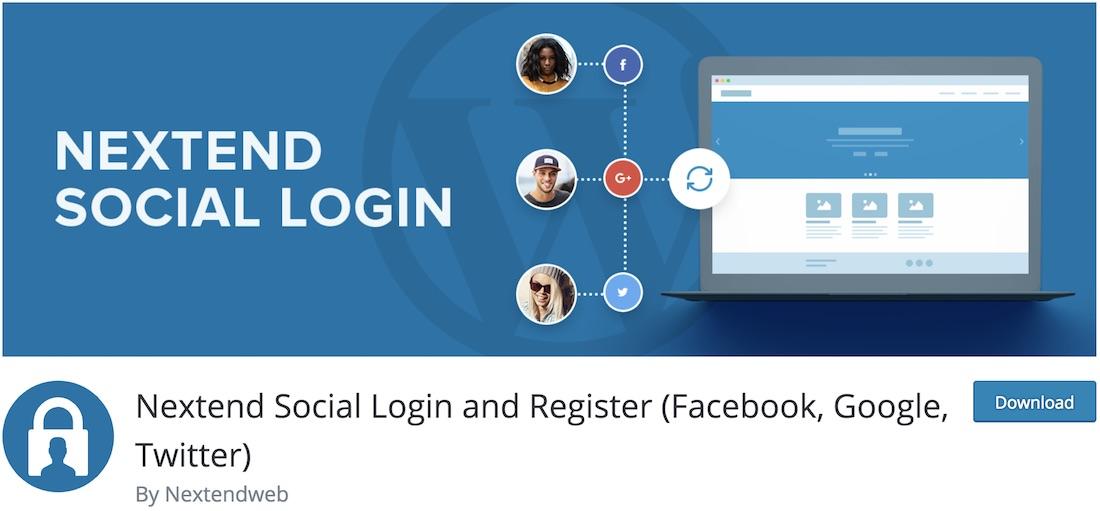 nextend social login and registration