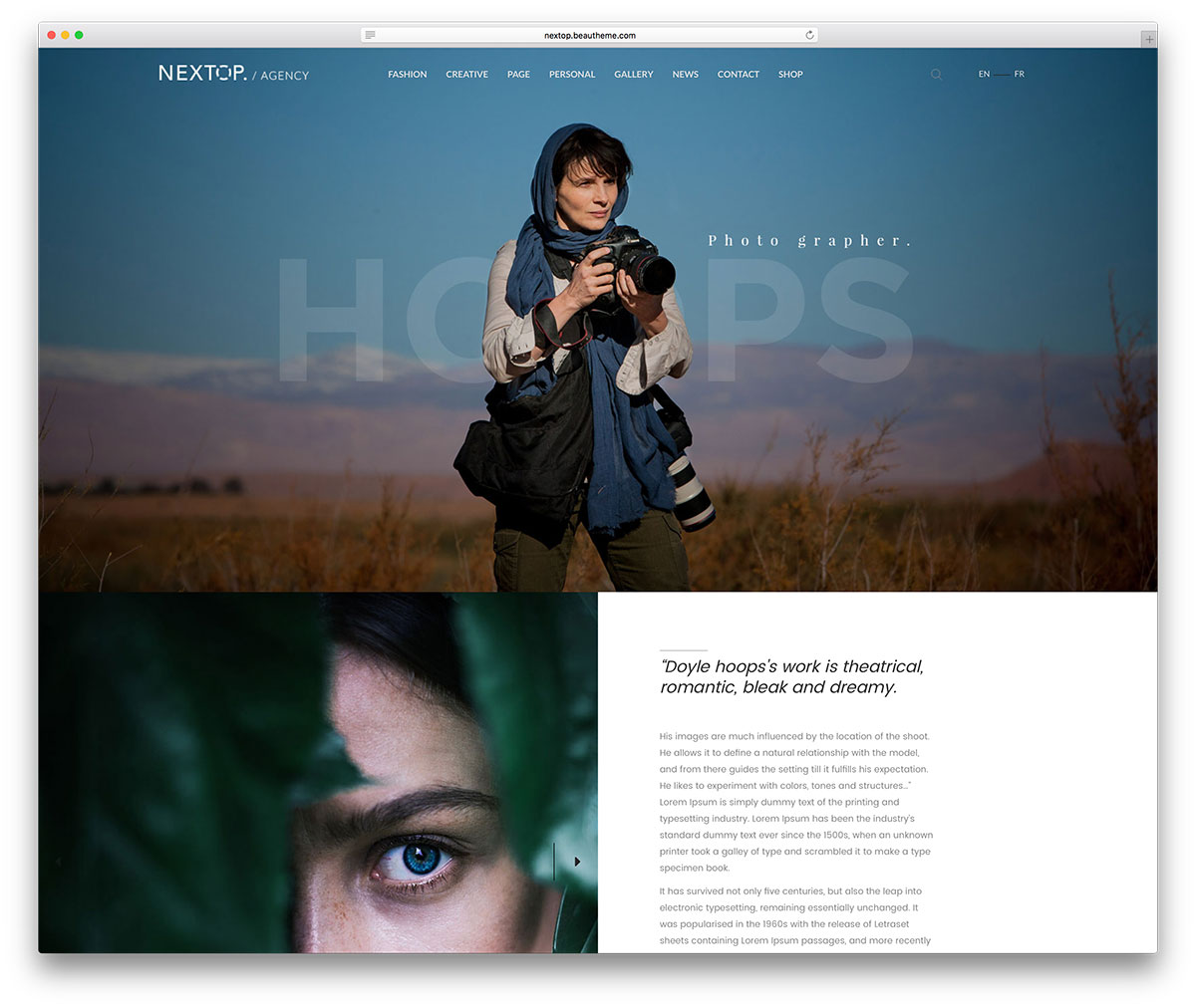 wordpress gallery theme