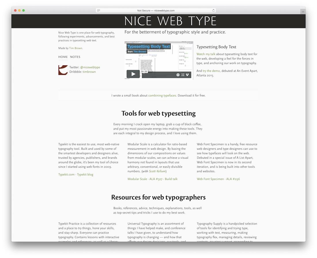 nice web type free typography resource