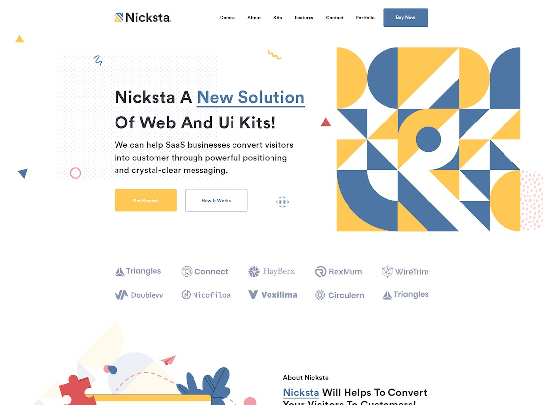 nicksta website mockup