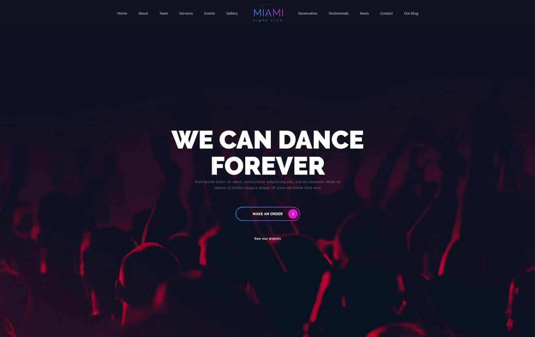night club musician website template
