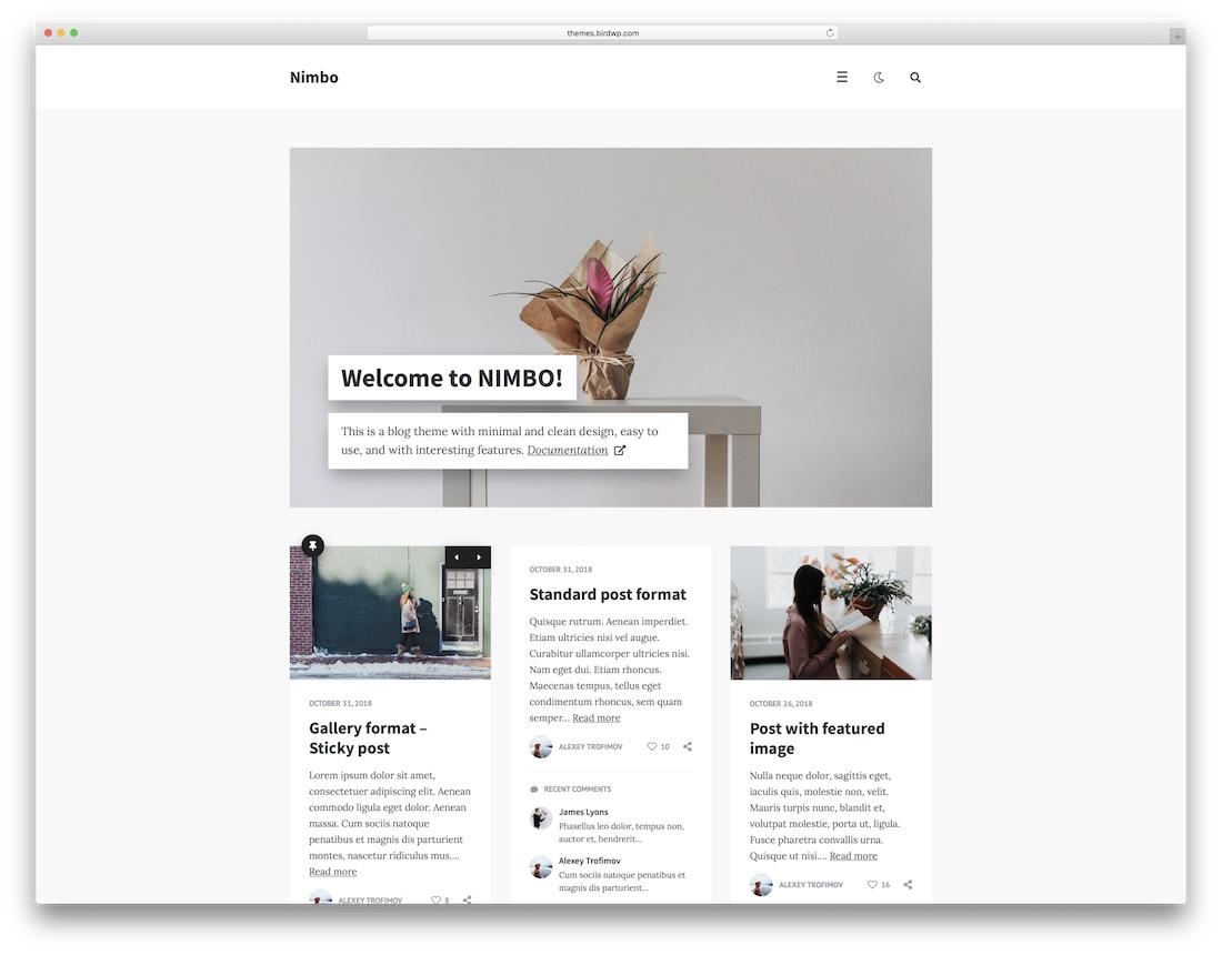 nimbo cheap wordpress theme
