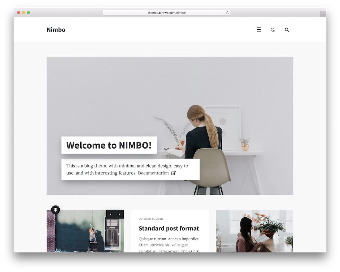 nimbo popular wordpress blog theme
