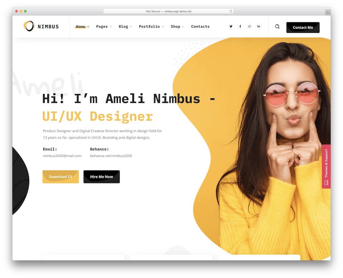 nimbus wordpress theme for programmers