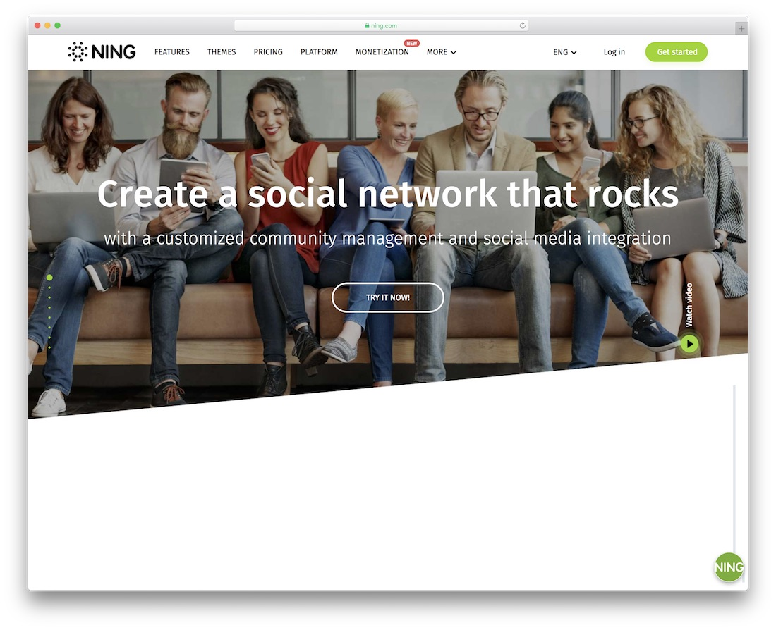 ning membership website builder