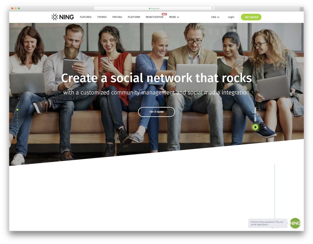 ning musician website builder