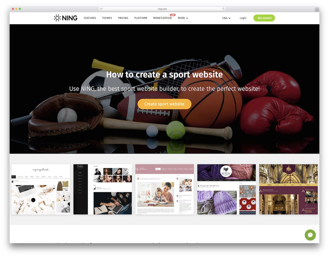 ning website builder for gym