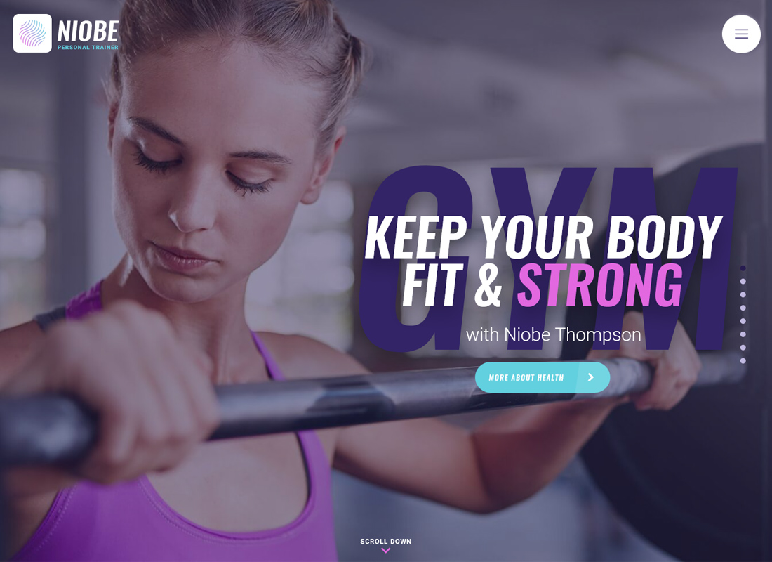 Niobe - A Gym Trainer & Nutrition Coach WordPress Theme