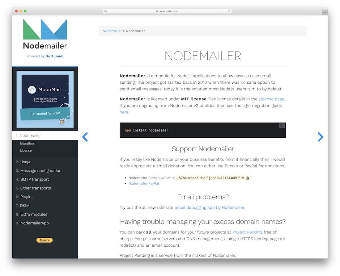 nodemailer