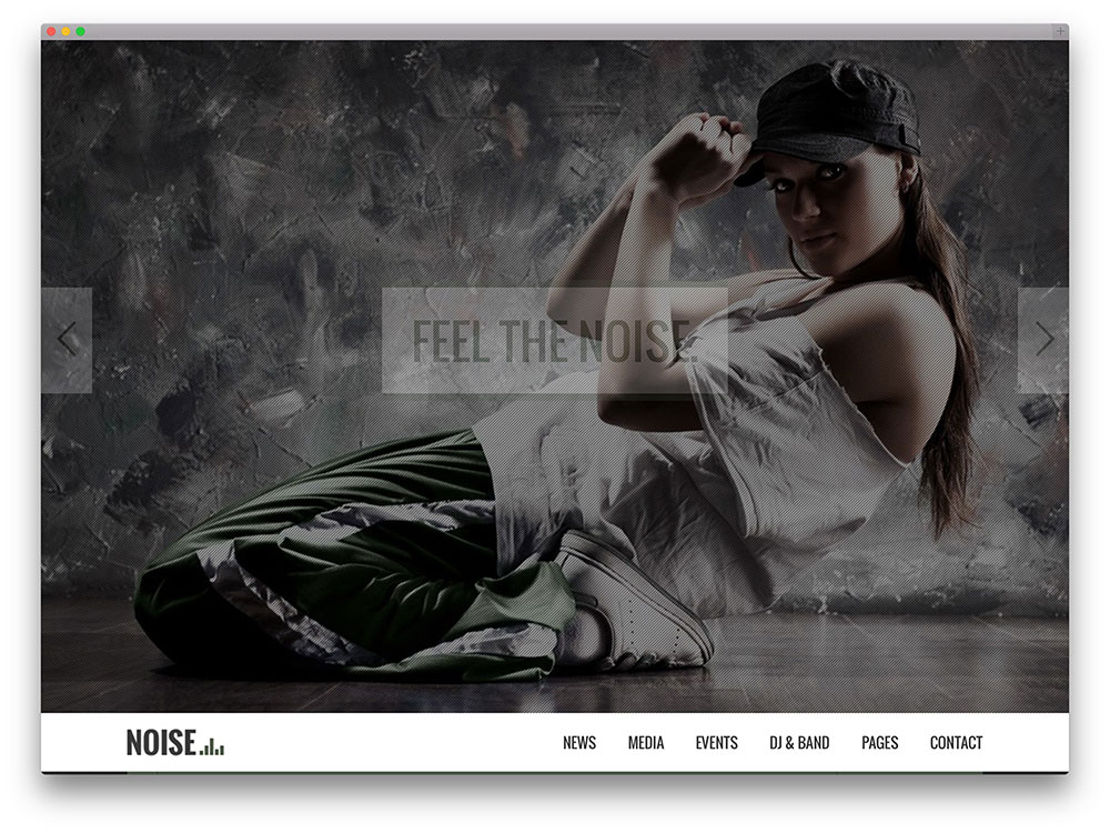 noise - full screen WordPress theme