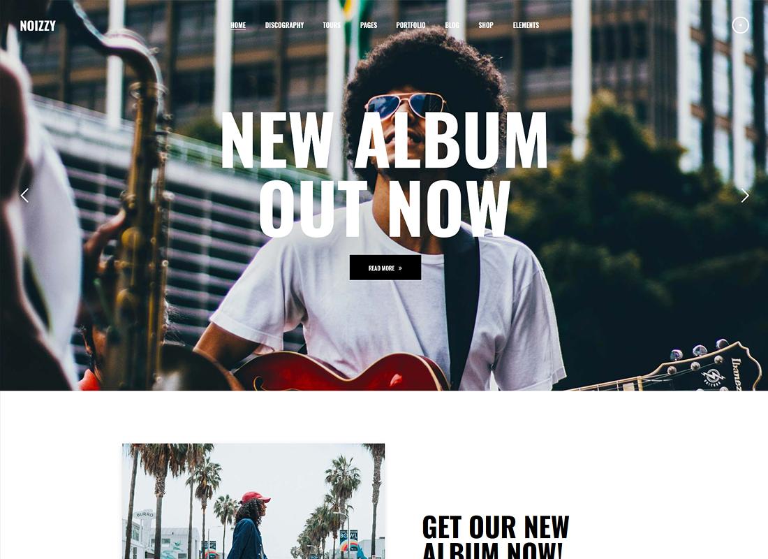Noizzy   Music Band WordPress Theme
