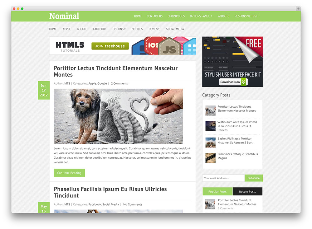 nominal magazine theme
