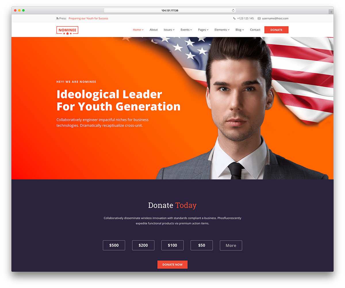 20 Best Political Wordpress Themes For Politicians 2020