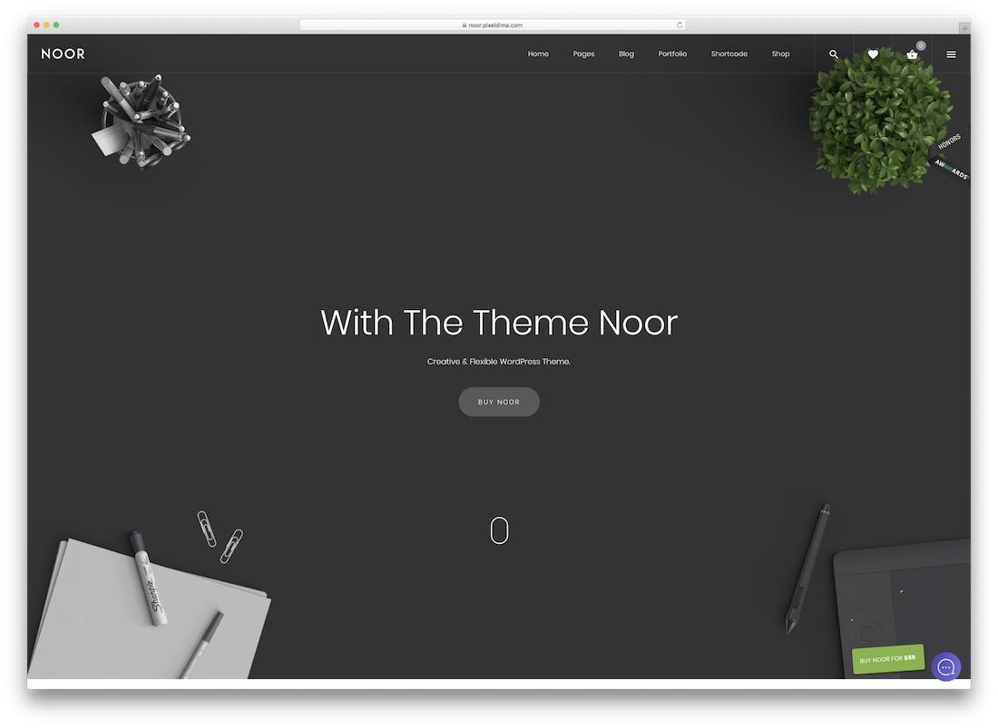 noor amp theme