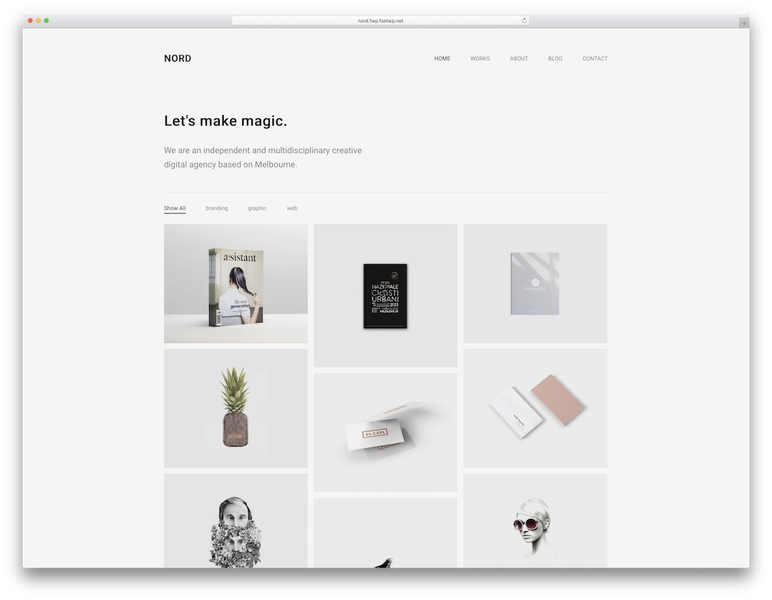 nord beautiful wordpress theme