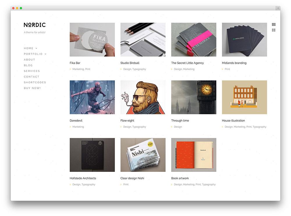 Free Designer Portfolio WordPress Themes