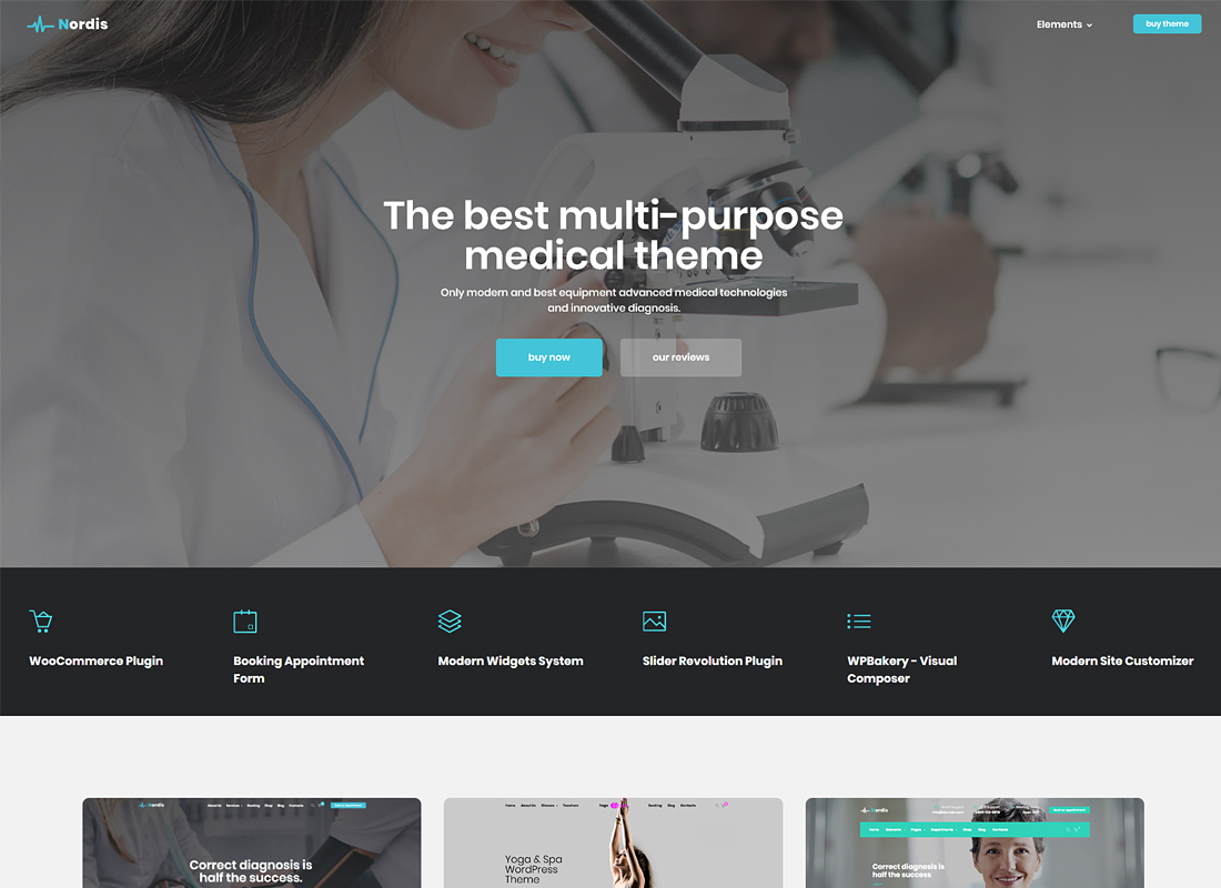 Medical Nordis | Health & Medical WordPress Theme