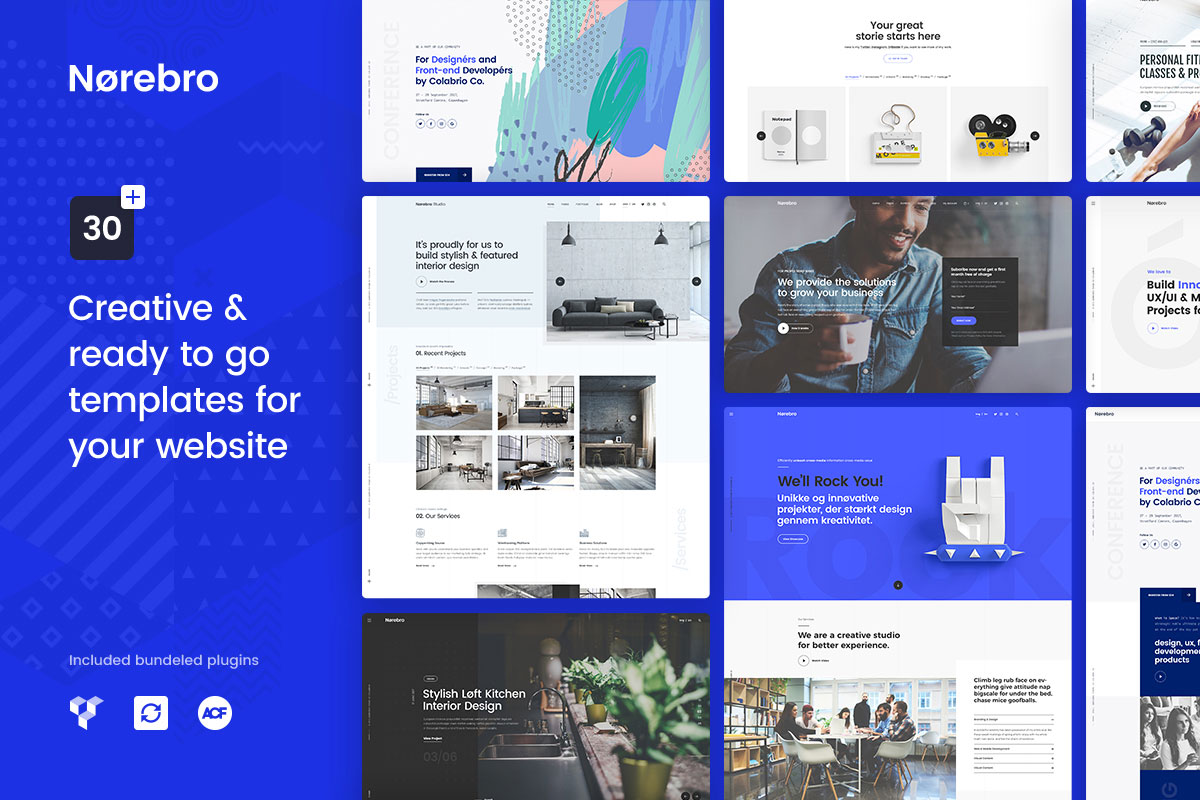 norebro masonry grid wordpress theme