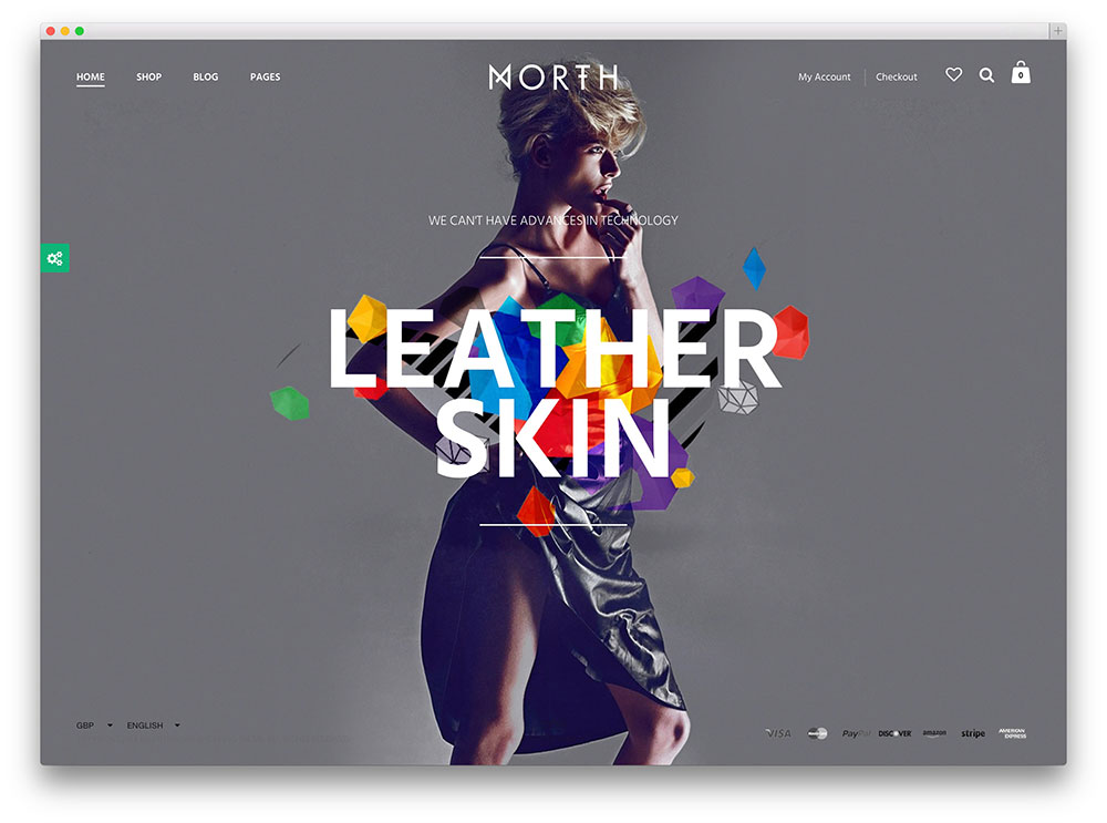 north unique ecommerce template