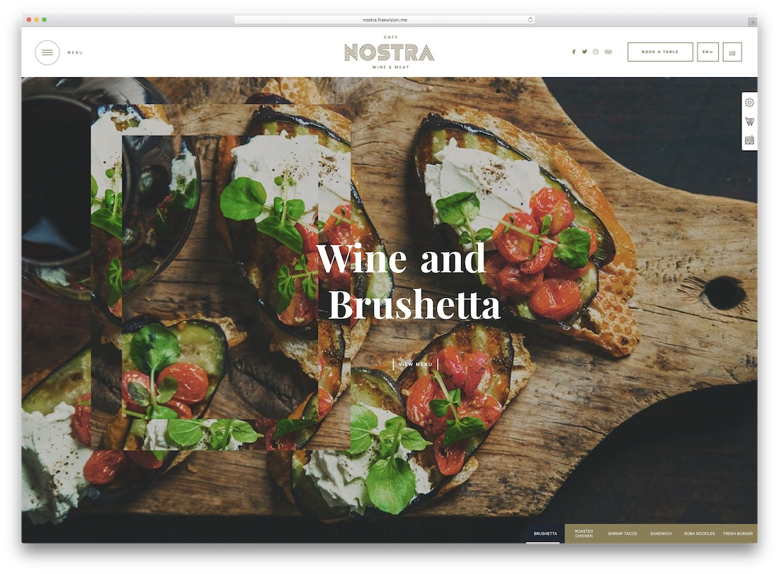 nostra catering wordpress theme