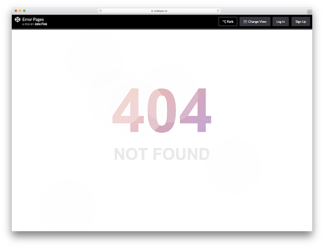 not found free 404 error page template