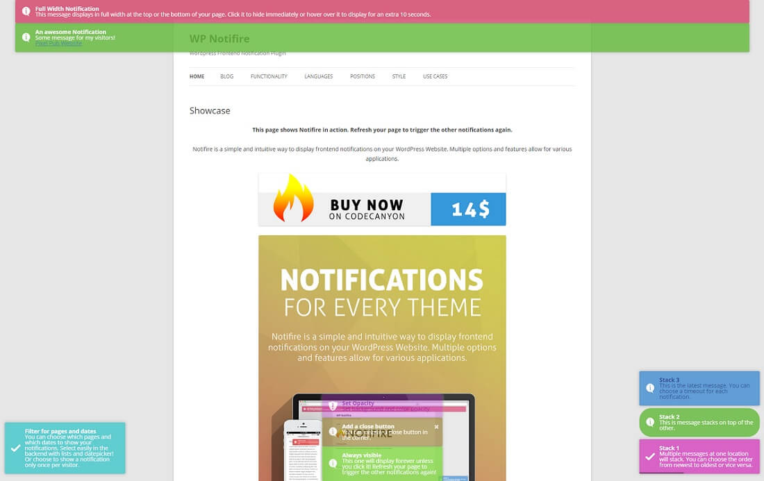 notifire wordpress toast notifications plugin