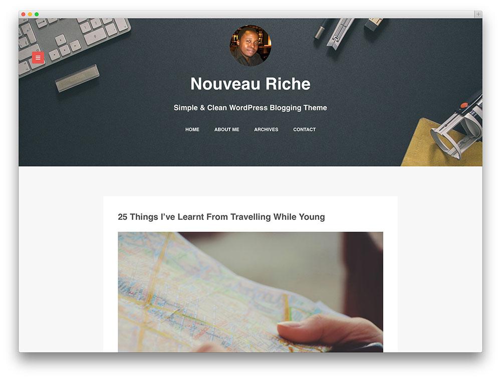 nouveau riche blog theme