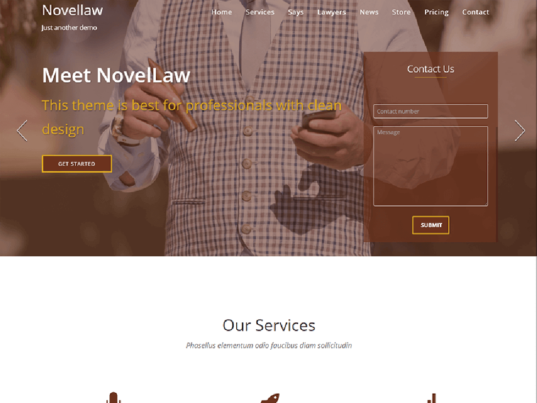 Novellaw WordPress Theme for Law Websites