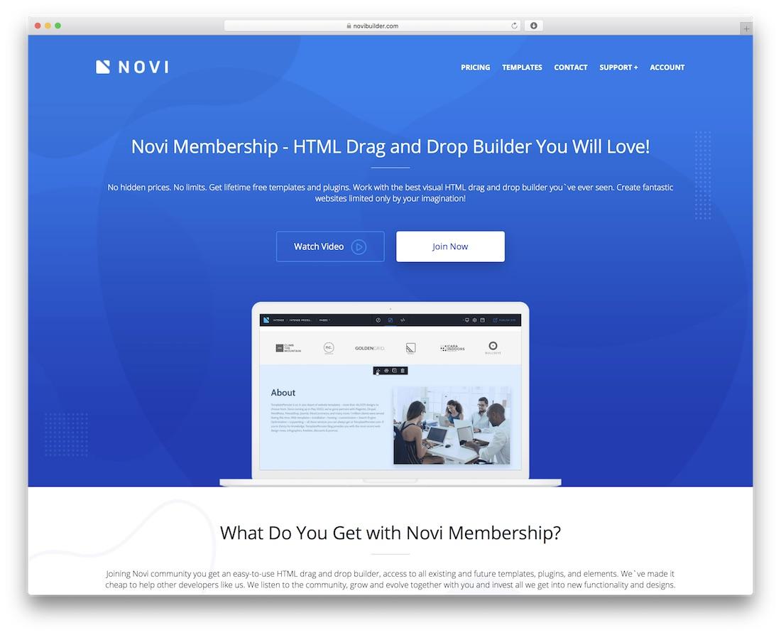 novi beginner website builder