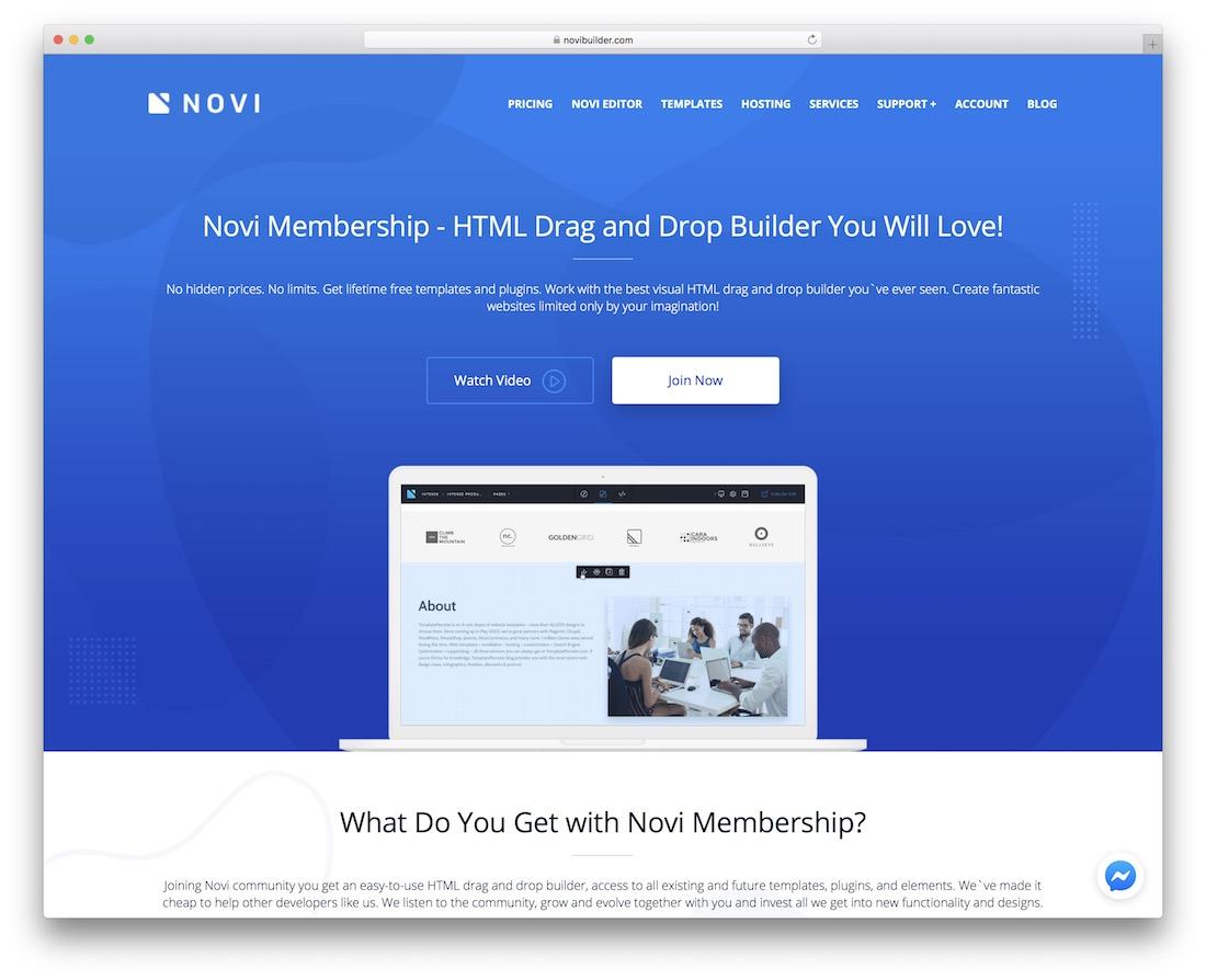 novi mobile friendly website builder