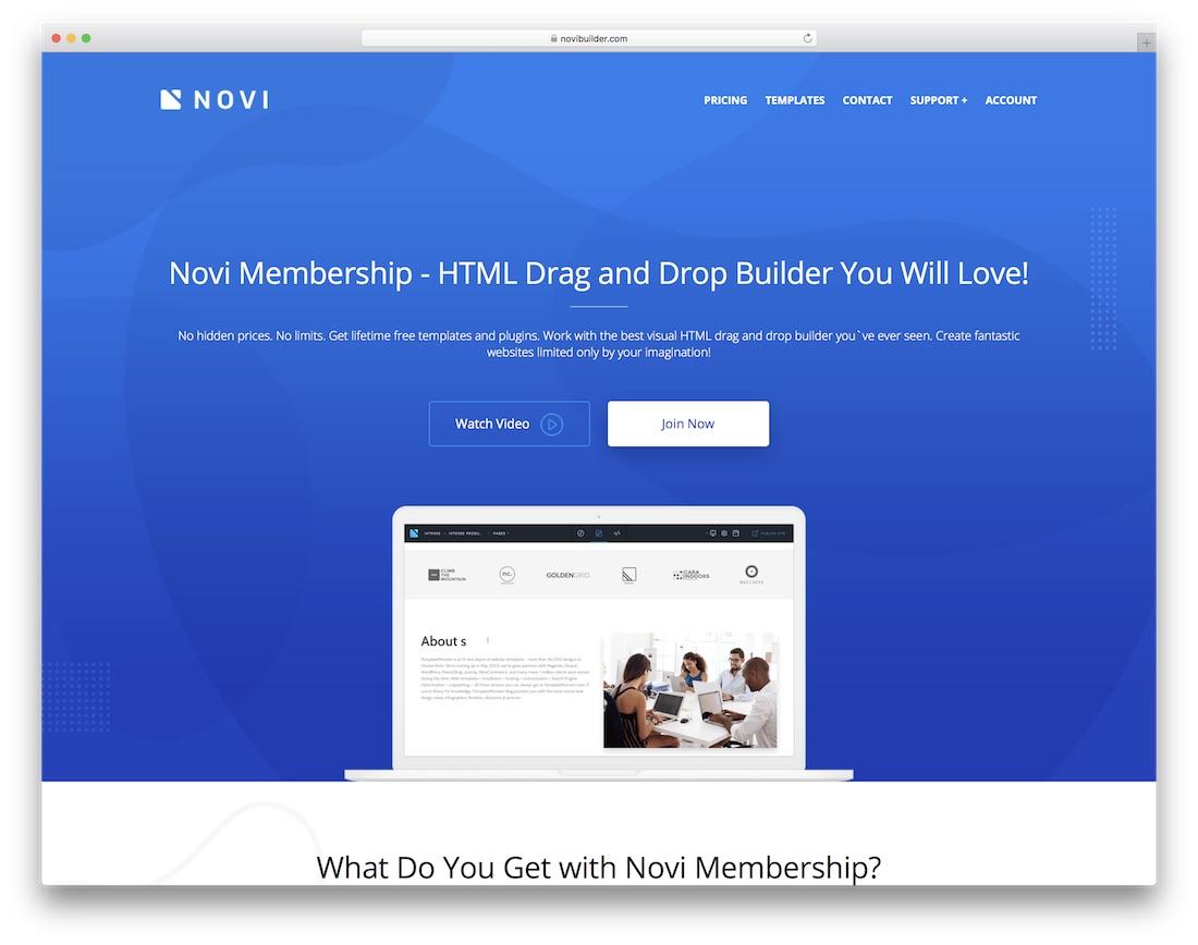 novi website builder software